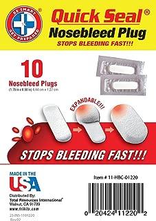 Be Smart Get Prepared - Quick Seal Nosebleed Plugs - 10 Plugs