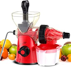 Manual Masticating Juicer, Original Slow Juicer Machine for Maximum Nutrition Value, Hand Cold Press Juicer for All Fruits...