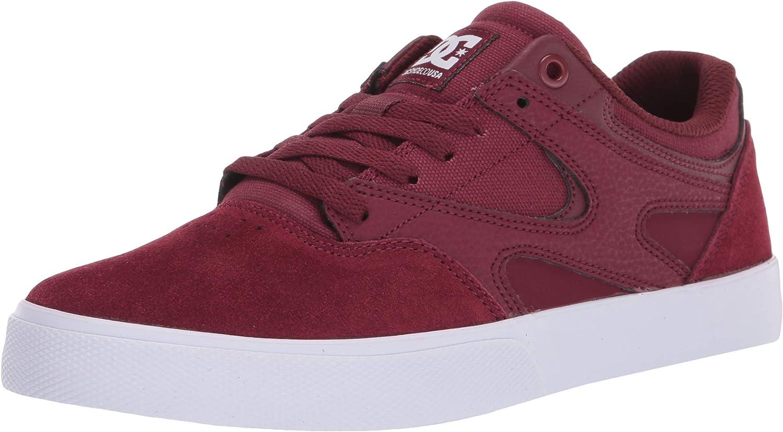 DC Men's Kalis Vulc Casual Skate Shoe, Maroon, 14