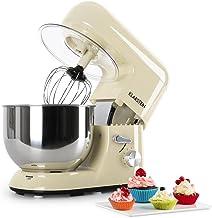 Klarstein Bella Morena - Küchenmaschine, Rührmaschine, Knetmaschine, 1200 Watt, 1,6 PS, 5,2 Liter, planetarisches Rührsystem, 6-stufige Geschwindigkeit, Edelstahlschüssel, hellgelb
