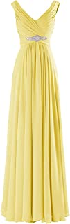 TalinaDress Long V Neck Bridesmaid Party Evening Dresses Prom Gowns E160LF