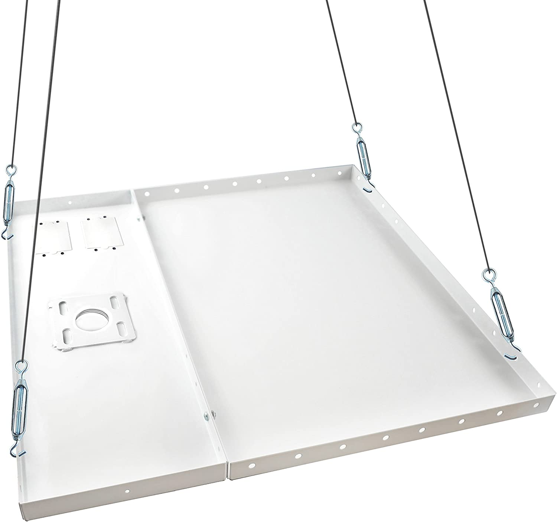 QualGear QG-PRO-PM-CA-W Pro-AV Single Joist Ceiling Adapter for 1.5 Npt Threaded Pipe Projector Accessory