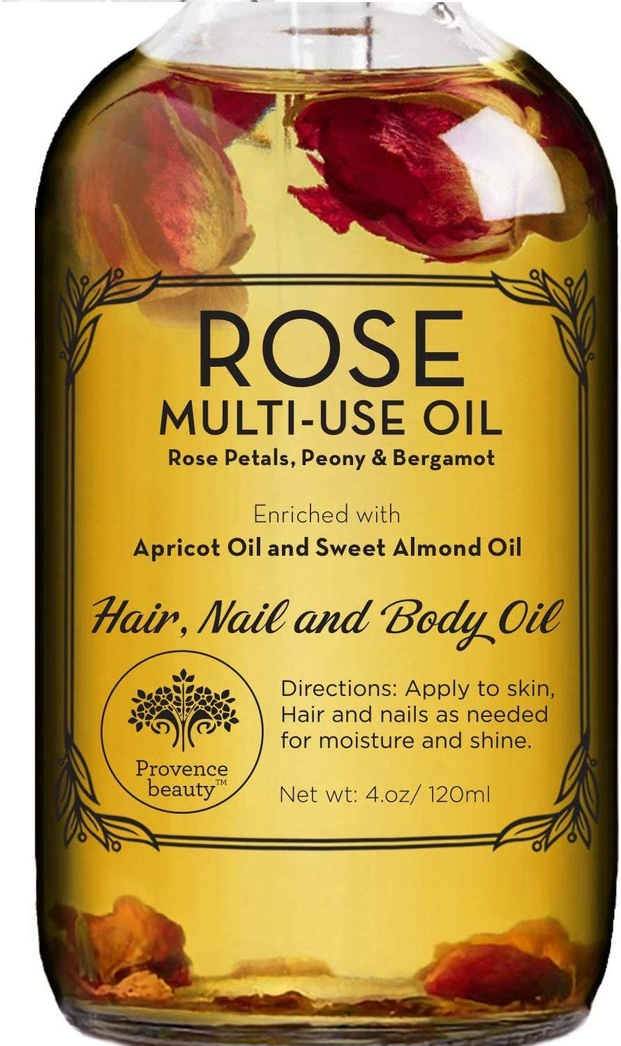 Rose Multi-Use Oil for Face, Body and Hair - Organic Blend of Apricot