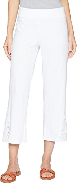 Heavier Slub Jersey Crochet Lace Cropped Pants