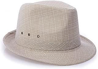 ZHANGBIN 帽子メンズ中年春と夏のイングランド、香港とマカオサンシェードアウトドアサンハット (Color : Color of camel's hair, Size : 56cm)