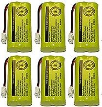Kastar Battery 6-Pack Bulk Packaging Replacement for AT&T BT8001 / BT8000 / BT8300 / BT184342 / BT284342 / AT3211-2 / 89-1335-00 / 89-1344-01 / 89-1330-00-00 / 89-1330-01-00 / BATT-6010 / CPH-515D