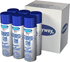 Sprayway Stainless Steel Cleaner and Polish, 15 Ounce - (Pack Of 12)