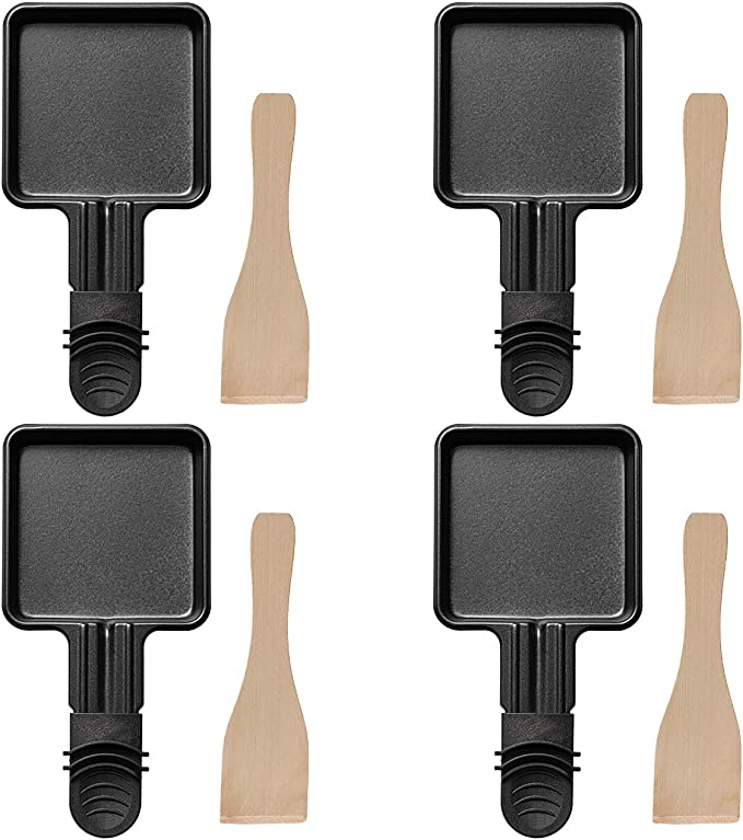 12 opinioni per COSYLAND 4 Pezzi Padelle per Raclette con Rivestimento Aantiaderente per Grill