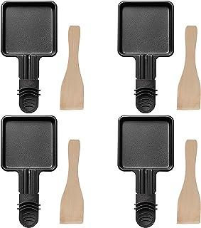 COSYLAND 4 Pièces Poêles à Raclette Avec Couche Antiadhésive pour Accessoires de Grill / Raclette électriques Universels A...