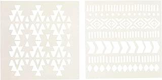 Fabric Creations 98812 Adhesive Aztec Stencil, 6