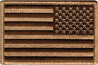 American Flag Embroidered Patch Reverse Camo Tan United States Subdued Military