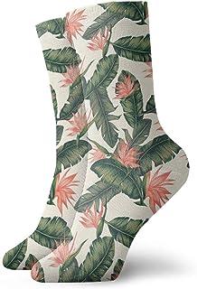 Luxury Calcetines de Deporte Feather Green Unisex Funny Art 3D Print Casual Crew Socks Athletic Crew Socks