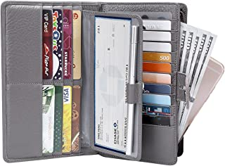 Itslife Women's Big Fat Rfid Leather wallet clutch organizer checkbook holder