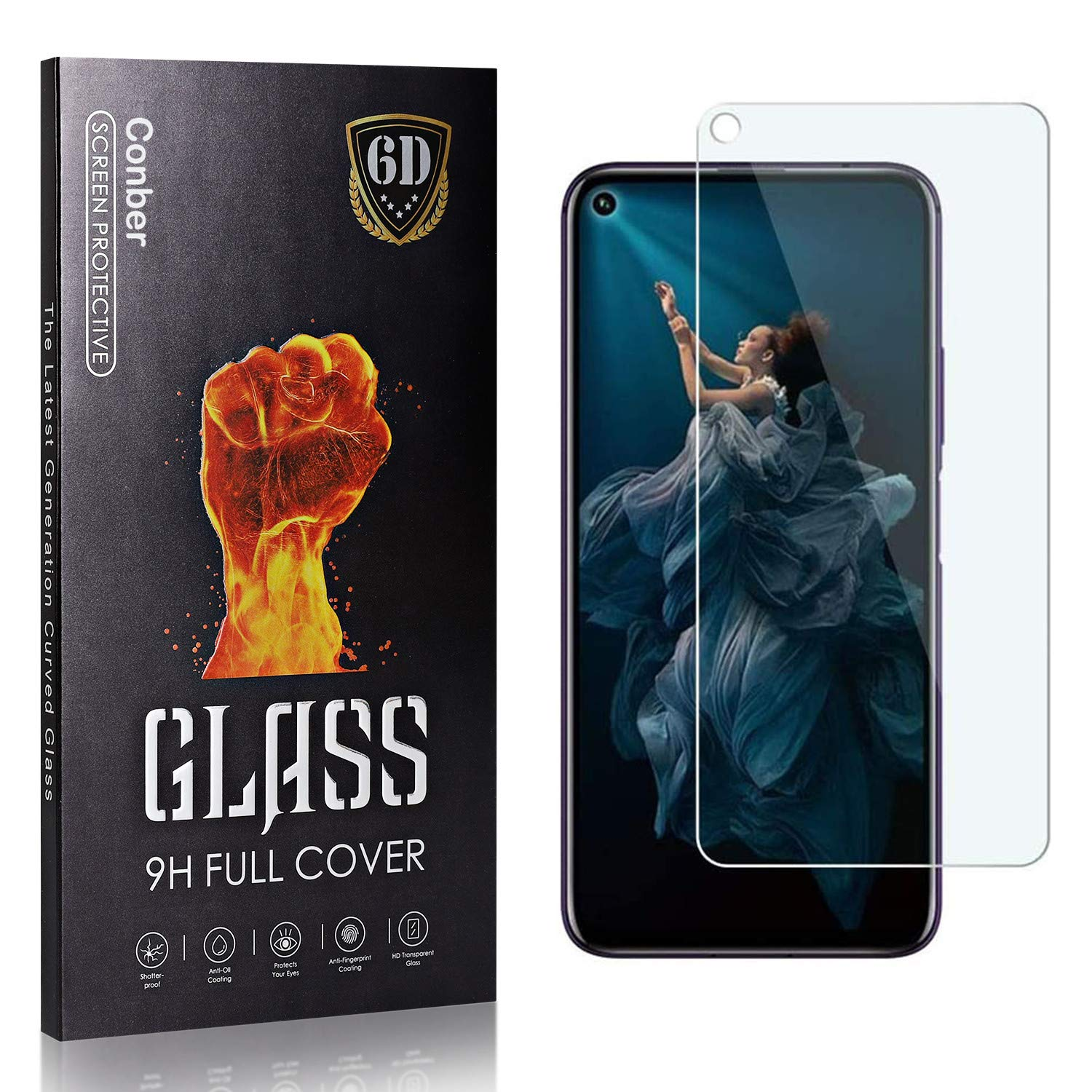 Conber Albuquerque Mall 4 Pack Screen shipfree Protector for G Huawei Tempered Honor 20