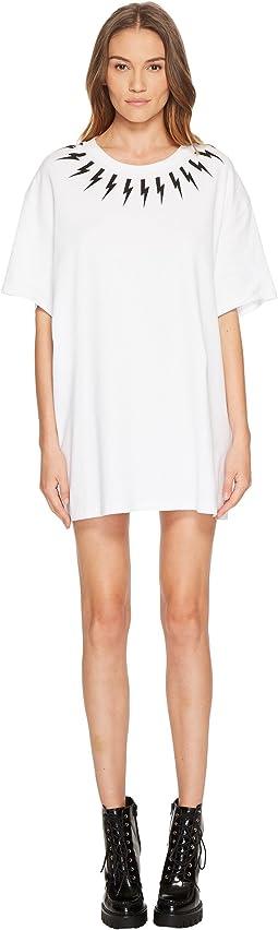 Neil Barrett - Fair Isle Thunderbolt T-Shirt Dress