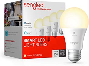 Sengled BLE Smart Bulb 4 Pack, Works with only Alexa, Bluetooth Mesh Smart Light Bulb, Dimmable LED Light, 800LM, Soft Whi...