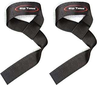 Rip Toned Lifting Wrist Straps (Pair) for Weightlifting, Bodybuilding, Powerlifting, Xfit, Strength Training, Deadlifts, M...