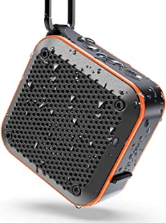 IPX7 Waterproof Speaker, Portable Bluetooth Wireless Speaker with FM Radio, TWS Stereo Pairing, 10W Bass Sound, 15H Playti...
