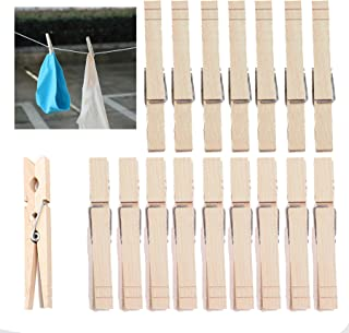 Large Clothes pins for Laundry,Wooden Clip Natural Color clothespins -30 Pack-(Large 3.3 inch X 0.4 inch)