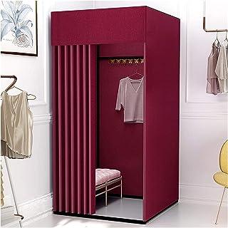ZXCVB Armoire portable pour vestiaire - Cadre audacieux - Pour magasins de vêtements, centres commerciaux, bureaux - 10 co...