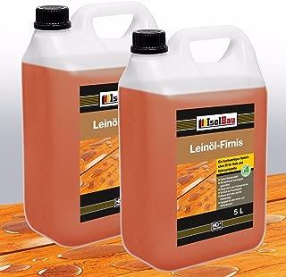 10 Liter Doppelt Gekocht NATUR Holzschutz LEINÖL- FIRNIS Holzöl Leinölfirnis Holz Möbel Lasur Holzschutz Holzpflege Harzfrei Lackfirnis Harzfrei