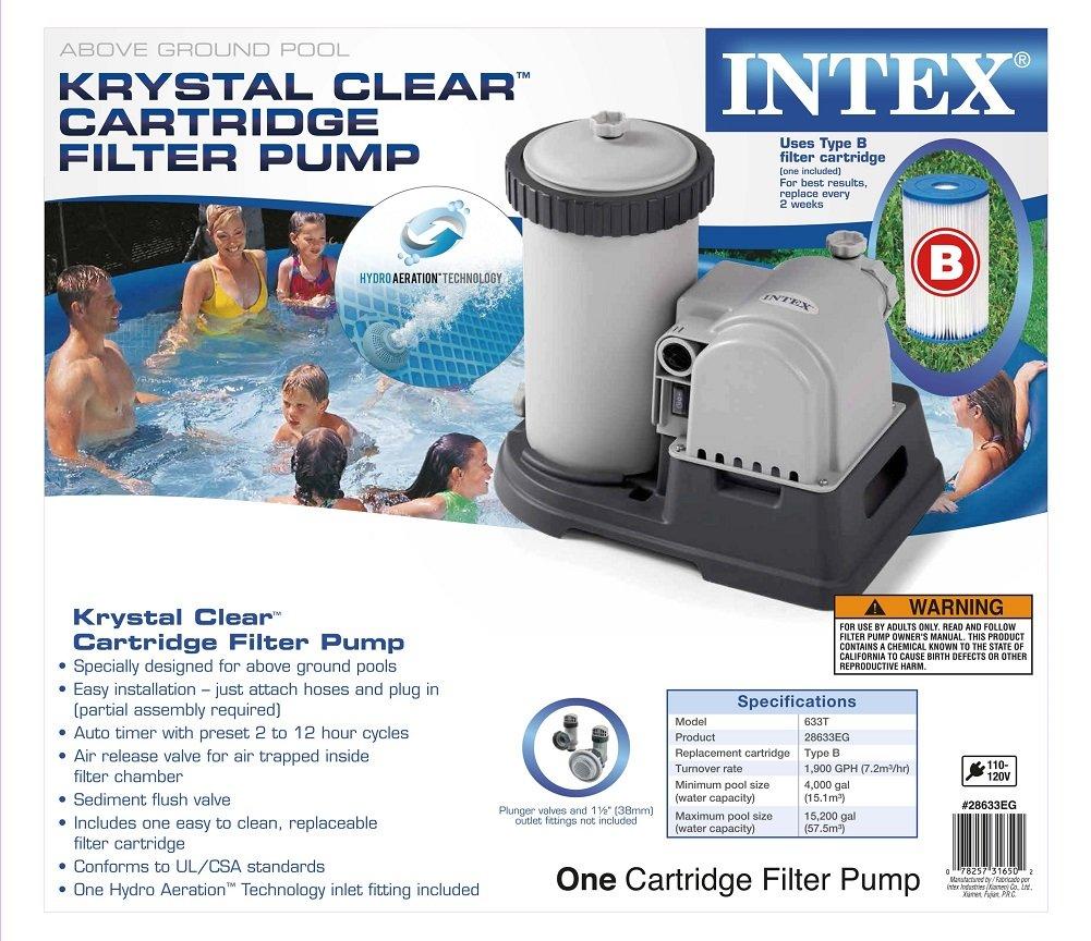 Intex 2500 GPH bomba de agua de piscina con filtro de repuesto: Amazon.es: Jardín
