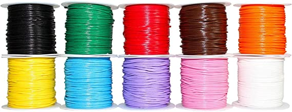 109 Yards, 10 Colors, 1.0 mm Waxed Cotton Cord Thread for Jewelry Making, Crafting, Macrame, Leather Works, Sewing, Binding, Gift Wrapping, Stringing, Lacing, Friendship Bracelets, Scrap Booking