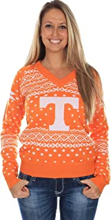 Tipsy Elves Women's University of Tennessee Sweater - Tennessee Volunteers Ugly Christmas Sweater