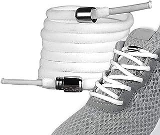 LaceHype - 2 Paar Premium Elastische Schnürsenkel mit Metallkapseln ohne binden - Set für 2 Paar Schuhe - mit Kapseln für ...