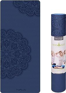 TOPLUS Preumium yogamat van hoogwaardige TPE, antislip, yogamat, gynastiekmat, oefenmat, sportmat voor yoga, pilates, fitn...
