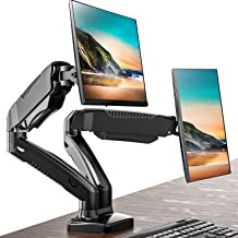FITUEYES Dual Monitor Stand Gas Spring Riser Desk Mount Swivel Tilt and Adjustable fit 13-27 inch Screen | VESA 75x75-100x...