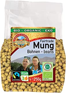Frijoles Mungos verdes orgánicos 1,5kg ecológica, de comercio justo Fairtrade, sin gluten, germinable, ideal para brotes d...