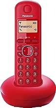 Panasonic KX-TGB210 - Teléfono fijo inalámbrico (LCD, identificador de llamadas, agenda de 50 números, tecla de navegación, alarma, reloj), Rojo, TGB21 Solo