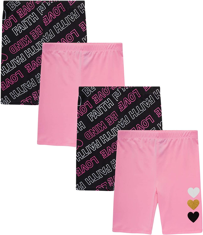 Dreamstar Girls' Super Soft Active Yummy Stretch Bike Shorts (4 Pack)
