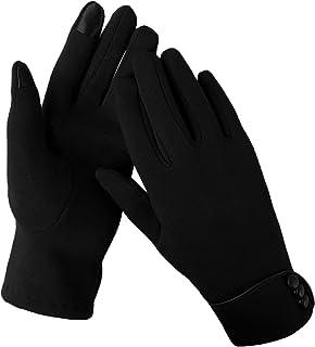 Aibrou Guanti Invernali da Donna, Esterno Phone Touchscreen, Guanti Invernali per Antivento per Sport, Ciclismo, Corsa