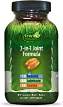 Irwin Naturals 3-in-1 Joint Formula - Powerful Joint Support Supplement with Glucosamine, Chondroitin, Turmeric & Boswellia - 90 Liquid Softgels