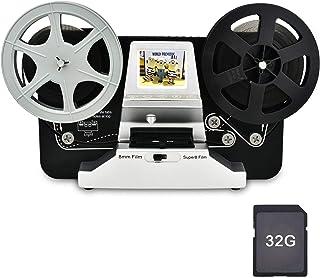 Digital MovieMakerフィルムスキャナーへの8mm&Super 8リール、2.4インチLCD付きProフィルムデジタイザー機、32 GB SDカード付きブラック(フィルム2デジタルムービーメーカー8mmフィルムスキャナー)