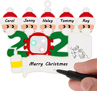 2020 Christmas Ornaments, Personalized Christmas Tree Ornaments, DIY Family Name Christmas Decorations, Xmas Gift Cute Pen...