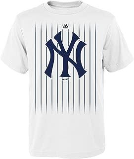 Outerstuff Gary Sanchez New York Yankees #24 MLB Youth Pinstripe Player T-shirt White