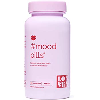 Love Wellness #Mood Pills - Helps Keep Your Mood, Happy & Relaxed - 30 Day Supply - Helps with Stress Relief & Improve Mood – Made with Good-for-You Ingredients - Safe & Effective Daily Supplement