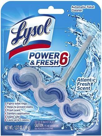 Lysol Power & Fresh 6 Automatic Toilet Bowl Cleaner, Atlantic Fresh, 1ct