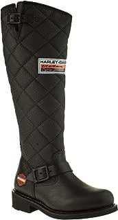 HARLEY-DAVIDSON Kadın Laconia Hi 646 Black Yağli Deri Moda Ayakkabılar