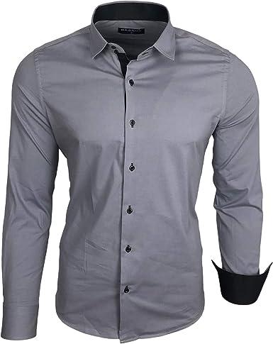 Baxboy B-500 - Camisa de manga larga para hombre, para ...