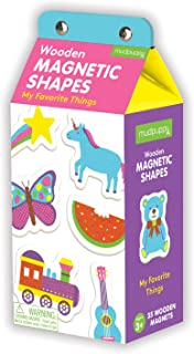 Mudpuppy My Favorite Things Magnets, Colorful Shaped Illustrations - Refrigerator Magnets, Ages 3 and Up