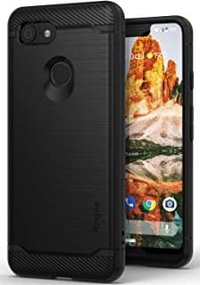 Ringke Onyx Compatible with Pixel 3 XL Case Extreme Tough Compatible Rugged Flexible Protection Durable Anti-Slip TPU Heavy Impact Shock Absorbent Case for Google Pixel 3 XL - Black