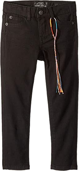 Zoe Five-Pocket Colored Brushed Jeans in Black (Toddler)