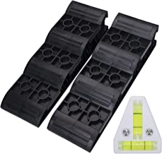 Homeon Wheels RV Leveling Blocks Heavy Duty Trailer Leveler Blocks 2 Pack for Trailers Campers, Tire Chocks for Caravan Truck Van SUV one T Lever Load Capacity Each Wheel 4,000 lb Adds Up to 4.3in