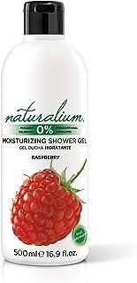 Naturalium Gel de baño aroma Frambuesa - Gel de ducha hidratante con olor a fruta fresca. Sin Parabenos ni Colorantes. Formato 500 mL