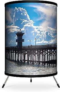 """Lamp-In-A-Box TRI-FAR-SDSE1 Featured Artists – Sean Davey""""Seal Beach 1″ Tripod Lamp, 14″ x 8″ x 8″"""