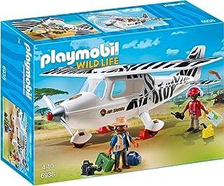 Playmobil Vida Salvaje- Avión por Safari Playset de Figuras de Juguete, Multicolor, 9,5 x 24,8 x 34,8 cm (Playmobil 6938)